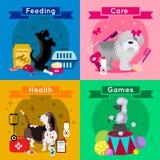 Dogs Breed Flat Icon Set Stock Image
