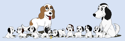 Dogs cartoon Royalty Free Stock Images