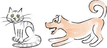 Dogs&Cats_coal-3 Стоковое Изображение RF