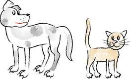 Dogs&Cats_coal-2 Stock Photos