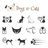 Dogs and cats vector illustration