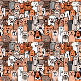 Dogs and cats seamless. Doodle dogs and cats seamless pattern Royalty Free Stock Photography