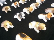 dogs ceramic toy Royalty Free Stock Images