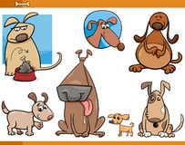 Dogs characters cartoon set Royalty Free Stock Photos