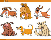 Dogs characters cartoon set Stock Photos