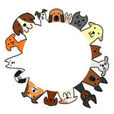 Dogs circle with copy space Royalty Free Stock Images