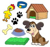 Dogs collection Royalty Free Stock Image
