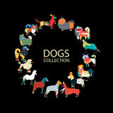 Dogs collection, sketch for your design Stock Images