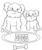 Dogs coloring page Stock Photography