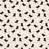 Dogs Dachshund Vector Seamless pattern. Dog Dachshund, bone, paw print. Dogs Dachshund Vector Seamless pattern. Dog Dachshund, bone, paw print