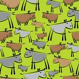 Dogs are different seamless pattern Royalty Free Stock Images