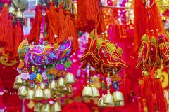 Dogs Dragons Chinese Lunar New Year Decorations Beijing China Stock Photography