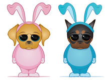 dogs easter Royaltyfri Illustrationer