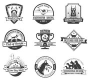 Dogs emblem set Stock Photography