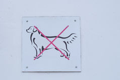 Dogs Entrance Forbidden Stock Photography
