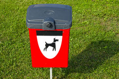 Dogs excrements box in the sea resort Stock Photo
