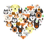 Dogs  face in heart-shape Royalty Free Stock Photo