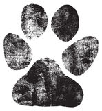 Dogs footprint Royalty Free Stock Photography