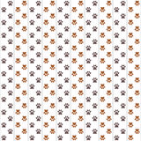 Dogs footprint pattern. Simple pattern of brown dogs footprints on light background with grey separator lines. May be used as background for site or page about Royalty Free Stock Photos