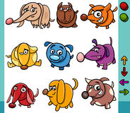 Dogs game characters cartoon illustration Stock Image