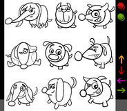 Dogs game characters coloring page Royalty Free Stock Image