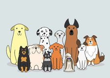 Dogs  group Royalty Free Stock Image