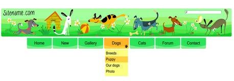 Dogs header Stock Photo