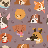 Dogs heads seamless pattern background vector Stock Images