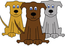 Dogs illustration Stock Images