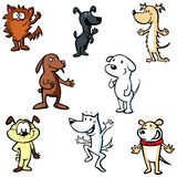 Dogs illustration cartoon Royalty Free Stock Images