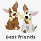 Dogs  illustration Stock Image