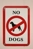 dogs inget tecken Royaltyfri Fotografi