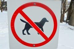 dogs inget tecken Arkivfoton
