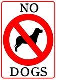dogs inget tecken Fotografering för Bildbyråer