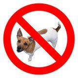 dogs inget tecken arkivfoto