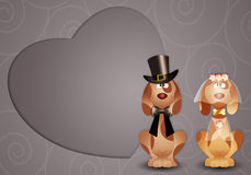 Dogs just married Stock Photo