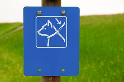 Dogs on leash sign Stock Photography