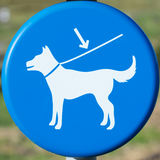 Dogs on leash sign Royalty Free Stock Photo