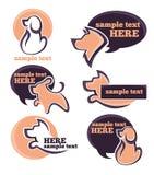Dogs logo Royalty Free Stock Photos