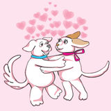 Dogs in love Stock Photography
