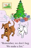 The dogs make a list for presents Royalty Free Stock Photos