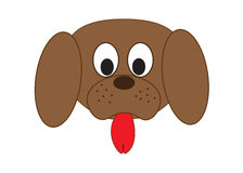Dogs muzzle. Vector illustation. Stock Images