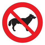 Dogs not allowed Royalty Free Stock Photos
