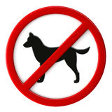 Dogs not allowed Stock Photography