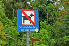 Dogs Are Not Allowed Sign Royalty Free Stock Photography