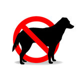 Dogs are not allowed Stock Photos