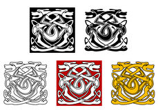 Dogs ornamental pattern in celtic Royalty Free Stock Photography
