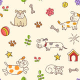 Dogs pattern Stock Images