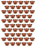 Dogs pattern Stock Photography