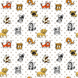 Dogs Pattern Seamless Background, The little puppy stock illustration
